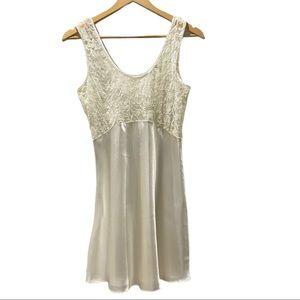 Victoria's Secret Ivory Satin & Lace Lingerie Slip